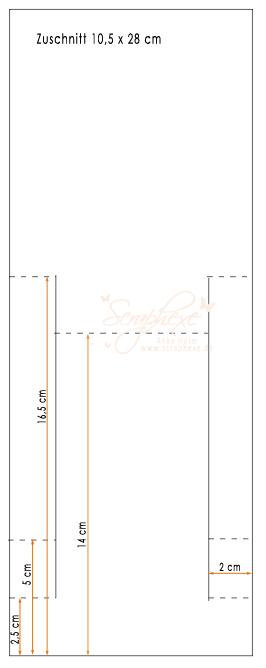 Center Step Card Hochformat, scraphexe
