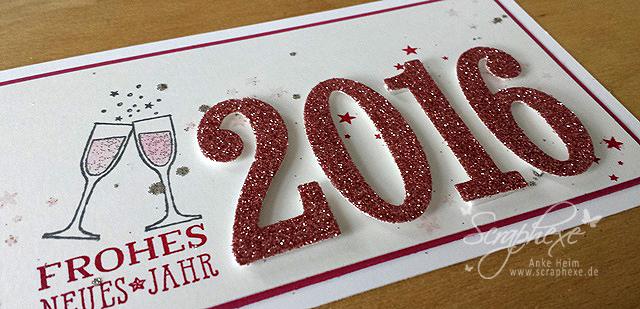 Neujahrsgruss 2016, Happy New Year, scraphexe