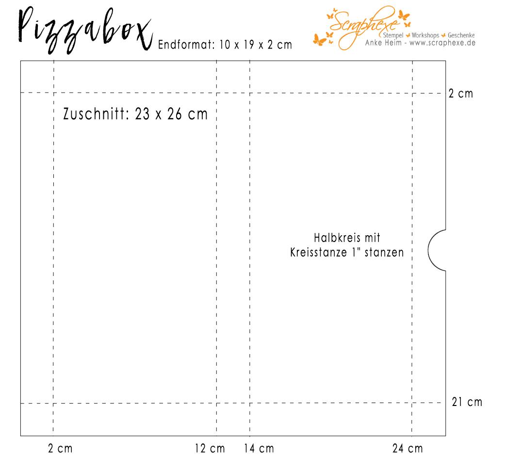 Pizzaschachtel, Anleitung, scraphexe.de
