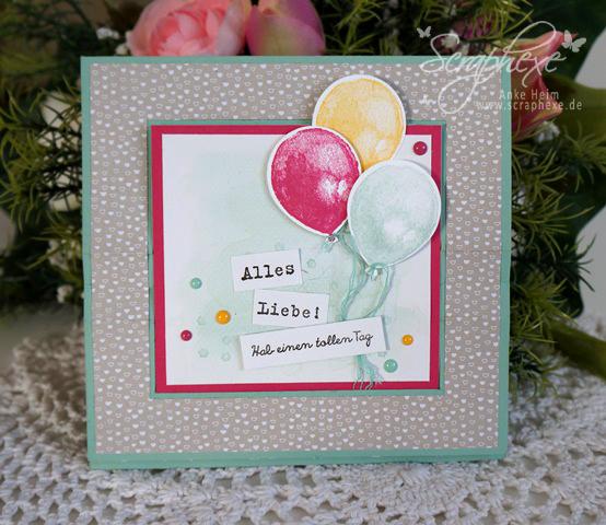 Balloon Builders, Kein Geburtstag ohne Kuchen, Stampin' Up!, scraphexe