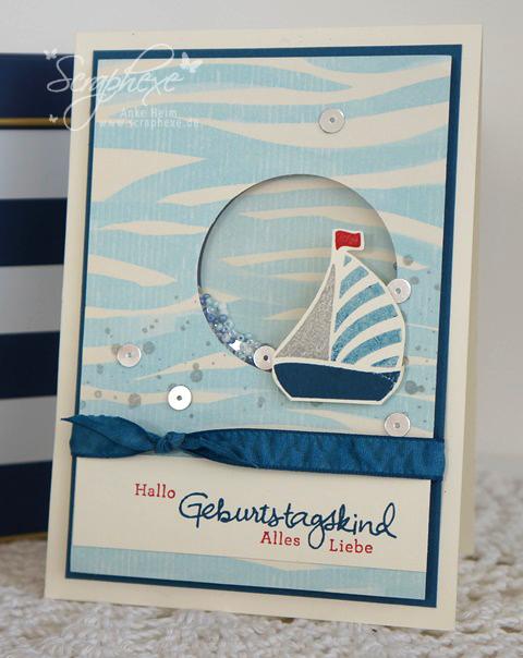 Maritimes Geschenkset, Swirly Bird, scraphexe.de