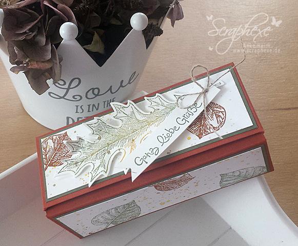 Pop Up Box, Herbst, Vintage Leaves, Stampin' Up!, scraphexe.de
