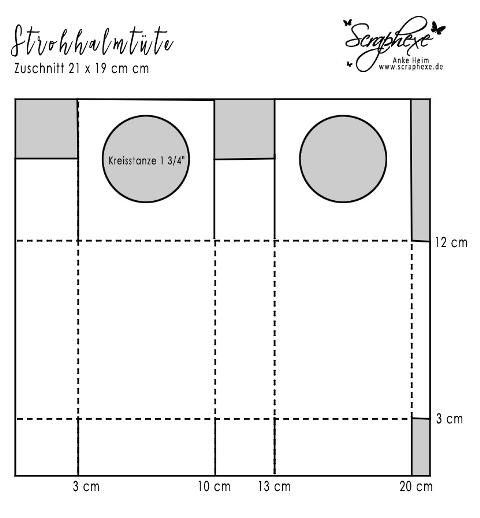 Strohhalmtüte mit Anleitung, scraphexe.de