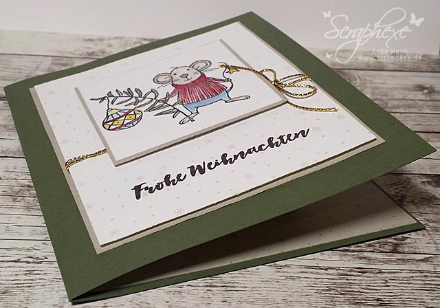 Buchkarte mit Anleitung, Festtagsmäuse, scraphexe.de
